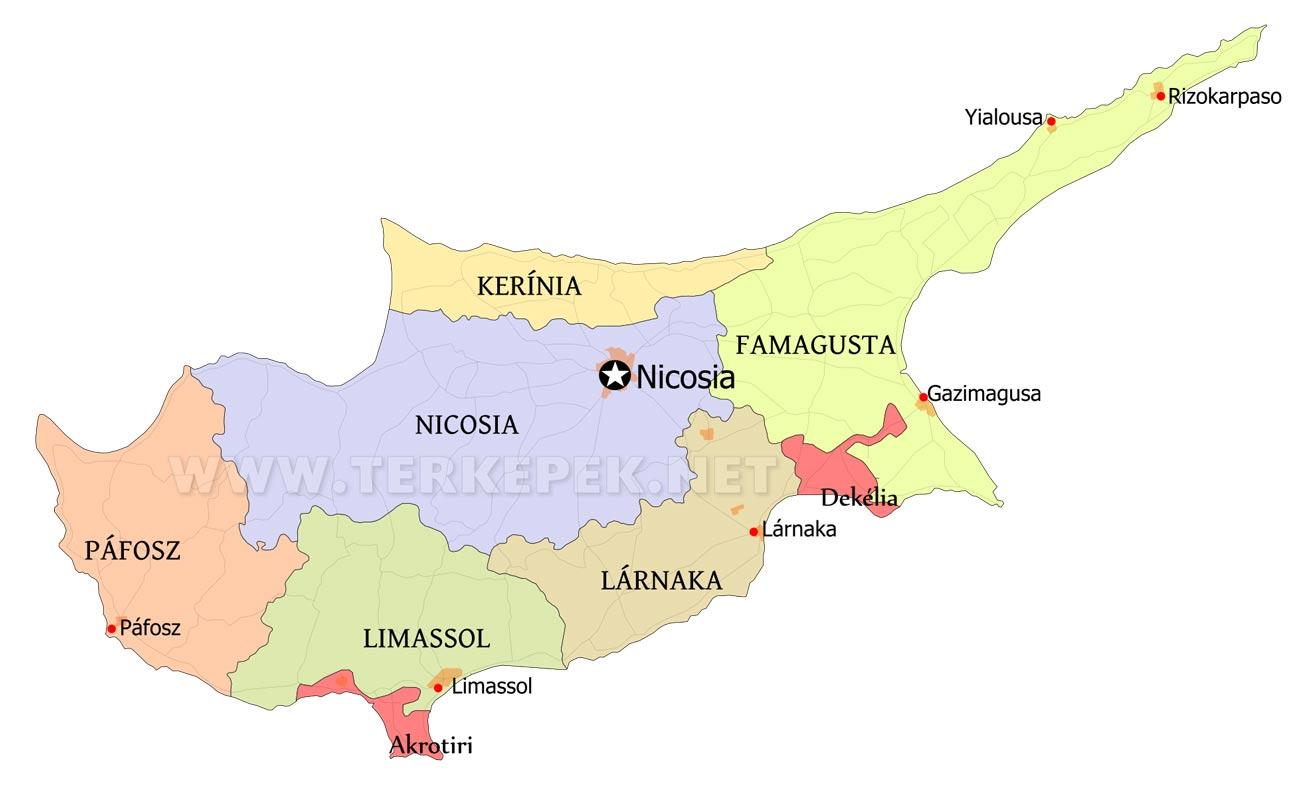 ciprus térkép Ciprus térképek ciprus térkép